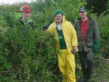Myself and hardy perennial volunteers Rob Niblet and Euan Bull