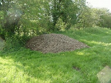 This pile of woodchips  from hedging brushwood is 15ft wide and 4ft high!!!!